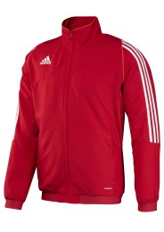 Herren Team Trainingsjacke, ADIDAS T12, rot