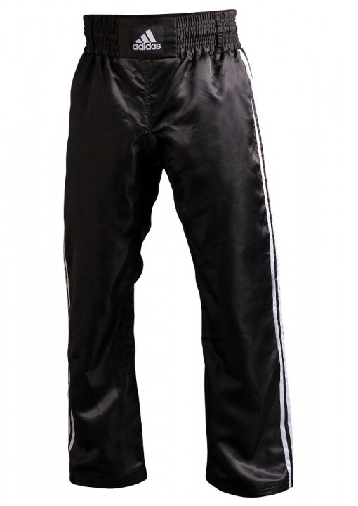 Kickboxing Pants Adidas Satin Black Dax Sports