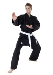 Karate Gi, DAX Okinawa, 8 oz., black