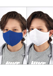 KIDS Face Masks / blue + white