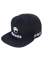 Snapback Cap, TOKAIDO, black/red