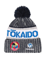 Bobble hat, TOKAIDO WKF, grey / white