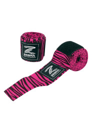 Boxing Bandages, ZEBRA, black/pink