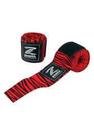 Boxing Bandages, ZEBRA, black/red