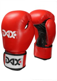 Boxing gloves TT, leather, red/black