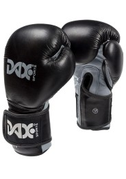 Boxing Gloves, DAX Wrist Lock, Leather, black/grey