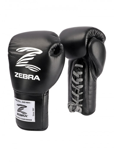Boxing Gloves, ZEBRA Pro Signature LACE, Leather