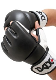 MMA Gloves, DAX Fighter Pro, black/white
