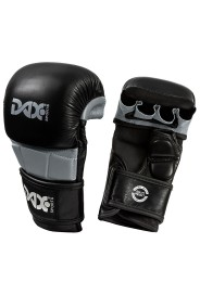 Fist Guard, DAX MMA Sparring Gloves, Leather, black/grey