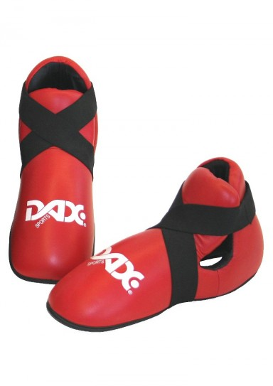 Kickboxing Foot Guard, DAX Deluxe, leather, red