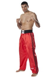 Kickboxing Pants, DAX Fighter, satin, red/black