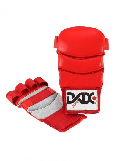 Jiu Jitsu Gloves, DAX Kumite 4, leather, red