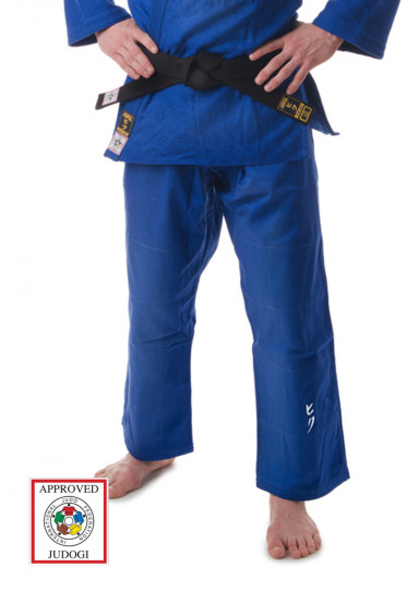 Judo Pants, HIKU Shiai 2, Slim Fit, IJF, 750 g., blue