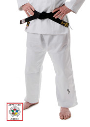 Judo Pants, HIKU Shiai 2, Slim Fit, IJF, 750 g., white