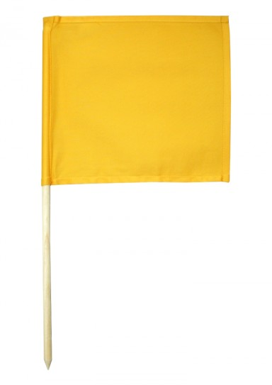 Referee flag, yellow
