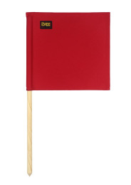 Referee flag, red