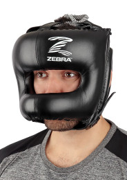 Head Guard, ZEBRA Pro Face Bar, leather