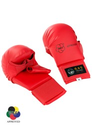 Karate Gloves, TOKAIDO, WKF, thumb protection, red