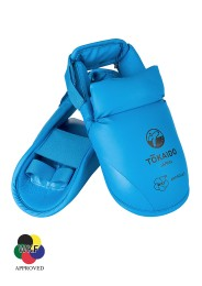 Karate Foot Guard, TOKAIDO, WKF approved, with Velcro, blue