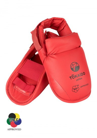 Karate Foot Guard, TOKAIDO, WKF approved, with Velcro, red