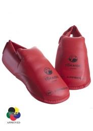 Karate Foot Guard, TOKAIDO, WKF approved, red