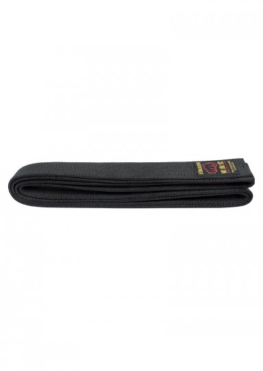 Karate Belt, TOKAIDO, made in Japan, artificial silk, black