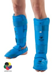 Karate Shin/Foot Guard, TOKAIDO, WKF approved, blue