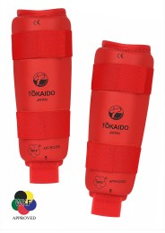 Karate Shin Guard, TOKAIDO, WKF, red