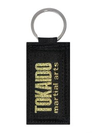 Key chain TOKAIDO MARTIAL ARTS Obi black, gold
