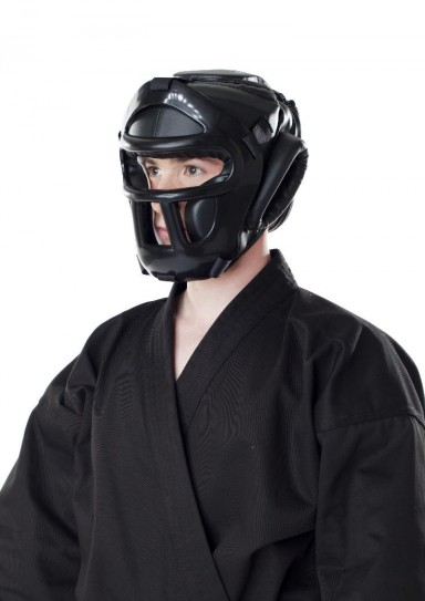 Head Guard, DAX Fight, with a grid, black