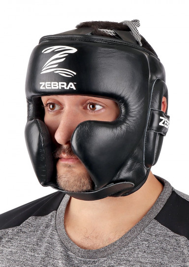 Head Guard, ZEBRA Pro Sparring, leather