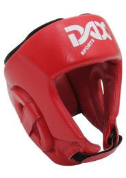 Head Guard, DAX Rebound, leather, red