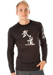 Long sleeve with budo imprint, black