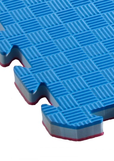 Puzzlemat STANDARD, red/blue, 1 m x 1 m, strength 20mm