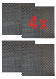 Home Dojo Mini / 4 x Puzzle Mats (MAT 038), black / gray