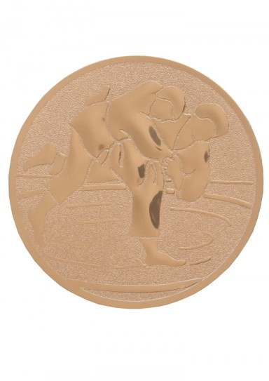 Medal inlayer, JUDO UCHI MATA, GOLD, 50 mm