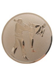 Medal inlayer, KARATE KICK, BRONZE, 50 mm