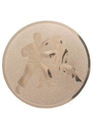 Medal inlayer KARATE TSUKI, BRONZE, 50 mm