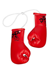 Mini boxing gloves, red