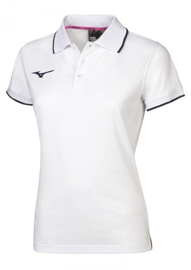 Womens Polo Shirt, MIZUNO M18, white