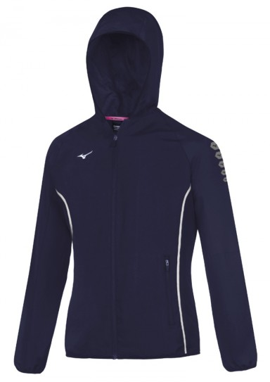 Womens Sports Jacket, MIZUNO M18, navy blue