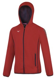 Womens Sports Jacket, MIZUNO M18, red