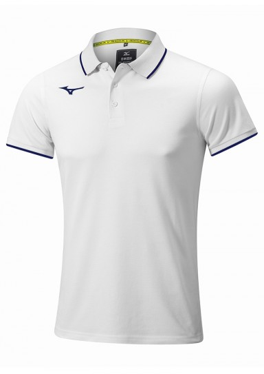 Mens Polo Shirt, MIZUNO M18, white