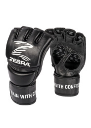 MMA Gloves, ZEBRA Pro Fight, leather