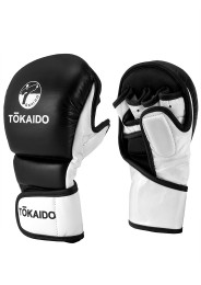 MMA Sparring Gloves, TOKAIDO Striker, black / white