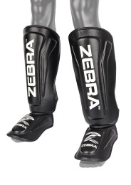Shin Instep Guard, ZEBRA Pro, leather