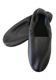 Referee mat shoes, leather, black