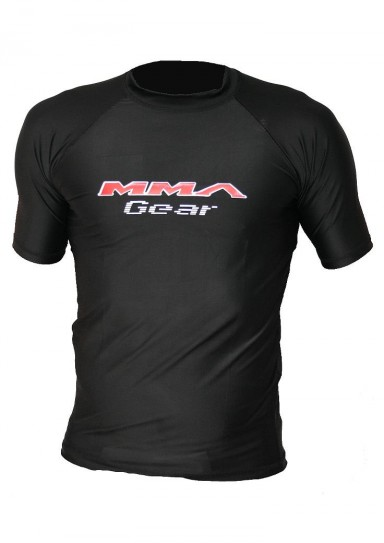MMA T-Shirt, Rash Guard, schwarz