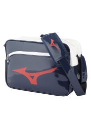 Messenger Bag, MIZUNO Enamel Bag, blue/red