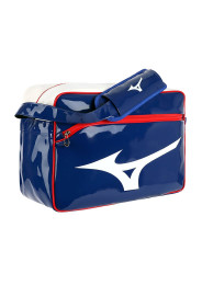 Messenger Bag, MIZUNO Enamel Bag, blue/white/red